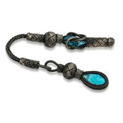 Gumush - 1000 Ayar Gümüş Zirkon Taşlı Kazaz Püsküllü