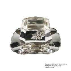 Gumush - Amaryllis Desenli Gümüş Boller