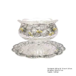 Gumush - Arı Motifli Gümüş Boller