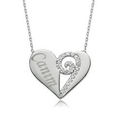 Gumush - Gümüş Canım Kalp Bayan Kolye