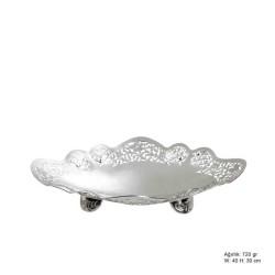 Gumush - Çiçek Motifli Gümüş Çikolatalık