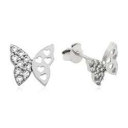 Gumush - Gümüş Çivili Kelebek Küpe (1)