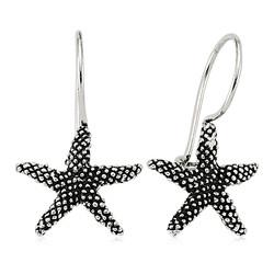 Gumush - Gümüş Sallantılı Deniz Yıldızı Küpe