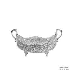 Gumush - Gül Desenli Gümüş Boller