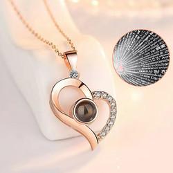 Gumush - Gümüş 100 Dilde Seni Seviyorum Kalp Kolye (1)