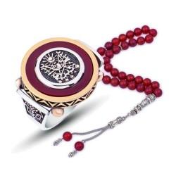 Gumush - Gümüş Abanoz Taşlı Osmanlı Arması Yüzük