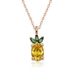 Gumush - Gümüş Ananas Figür Meyve Kolye