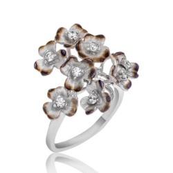 Gumush - Gümüş Anemon Çiçeği Bayan Yüzük