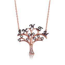 Gumush - Gümüş Annem Yazılı Hayat Ağacı Bayan Kolye