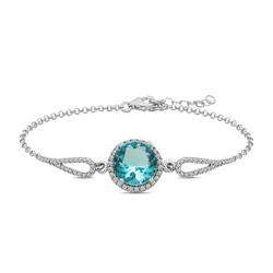 Gumush - Gümüş Aquamarine Bileklik