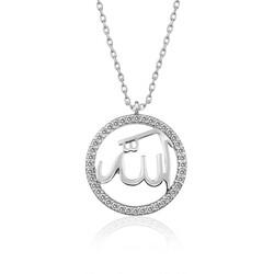 Gumush - Gümüş Arapça Allah Yazılı Bayan Kolye