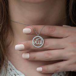 Gumush - Gümüş Arapça Allah Yazılı Bayan Kolye (1)