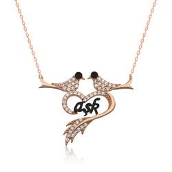 Gumush - Gümüş Kalpli Güvercin Bayan Kolye