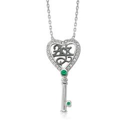 Gumush - Gümüş Aşk Yazılı Anahtar Bayan Kolye
