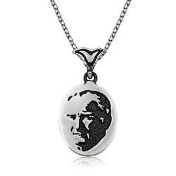 Gumush - Gümüş Atatürk Silüeti Kolye