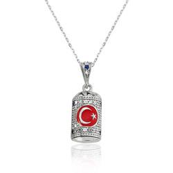 Gumush - Gümüş Ay Yıldız Cevşen Bayan Kolye