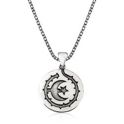 Gumush - Gümüş Ay Yıldız Erkek Kolye