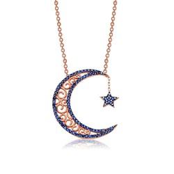 Gumush - Gümüş Ay Yıldız Bayan Kolye