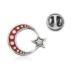 Gumush - Gümüş Ay Yıldız Rozet