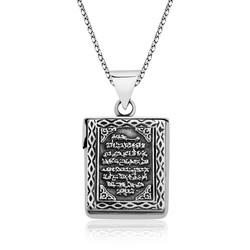 Gumush - Gümüş Ayetel Kürsi Yazılı Muska Kolye