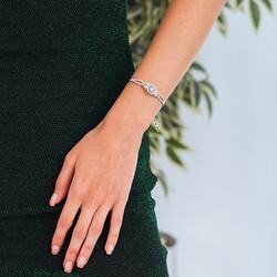 Gümüş Baget Bayan Bileklik - Thumbnail