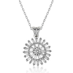 Gumush - Gümüş Baget Taşlı Bayan Kolye
