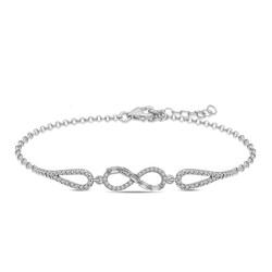 Gumush - Gümüş Baget Taşlı Sonsuzluk Bileklik
