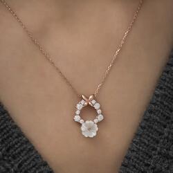 Gümüş Bahar Çiçeği Kolye - Thumbnail