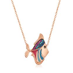 Gumush - Gümüş Balık Bayan Kolye