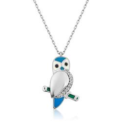 Gumush - Gümüş Baykuş Bayan Kolye