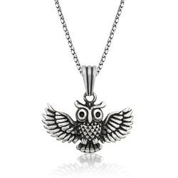 Gumush - Gümüş Baykuş Erkek Kolye