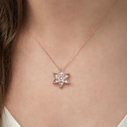 Gumush - Gümüş Beyaz Lotus Çiçeği Kolye (1)