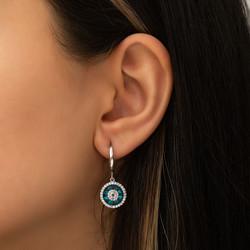 Gümüş Camgöz Nazar Bayan Set - Thumbnail