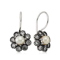 Gumush - Gümüş Çiçek İnci Küpe