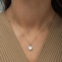 Gumush - Gümüş Çiçek Kolye (1)