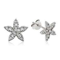 Gumush - Gümüş Çiçek Çivili Küpe