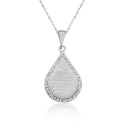 Gumush - Gümüş Damla Ayetel Kürsi Bayan Kolye