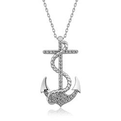 Gumush - Gümüş Deniz Çapası Bayan Kolye