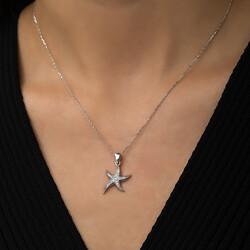Gümüş Deniz Yıldızı Bayan Kolye - Thumbnail