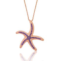Gumush - Gümüş Mor Deniz Yıldızı Bayan Kolye