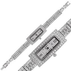 Gumush - Gümüş Dikdörtgen Zirkon Taşlı Bayan Saat