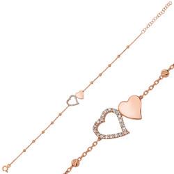 Gumush - Gümüş Dorissa İki Kalp Bayan Bileklik