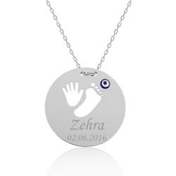 Gumush - Gümüş El Ayak İzi İsimli Anne Kolyesi