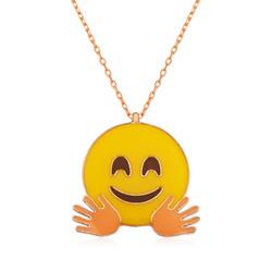 Gumush - Gümüş El Sallayan Emoji Bayan Kolye