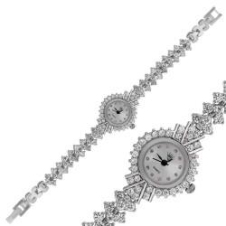 Gumush - Gümüş Zirkon Taşlı Bayan Saat