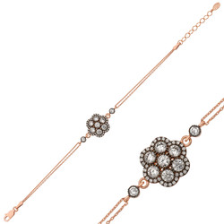 Gumush - Gümüş Elmas Montür Çiçek Bileklik