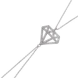 Gumush - Gümüş Elmas Model Şahmeran Bileklik