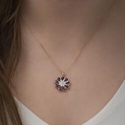Gumush - Gümüş Erguvan Çiçeği Kolye (1)