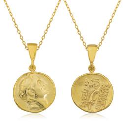 Gumush - Gümüş Eski Yunan Parası Kolye