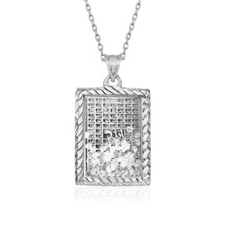 Gumush - Gümüş Esma'ül Hüsna Yazılı Kolye